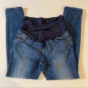 Old navy maternity jeans size 12 skinny jean blue